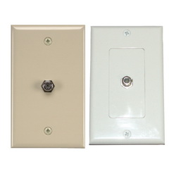 Coax/F-Connector Wallplates