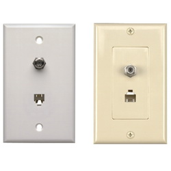 Combination - Coax/Phone Wallplates
