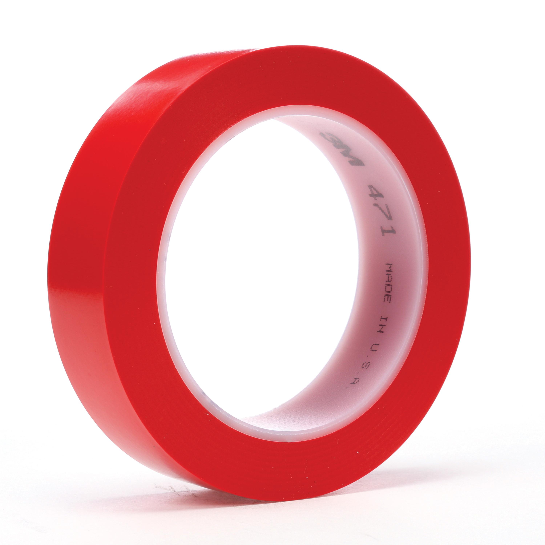 3M™ 021200-03102 High Performance Vinyl Tape, 36 yd L x 3 in W, 5.2 mil THK, Rubber Adhesive, Vinyl Backing, Transparent