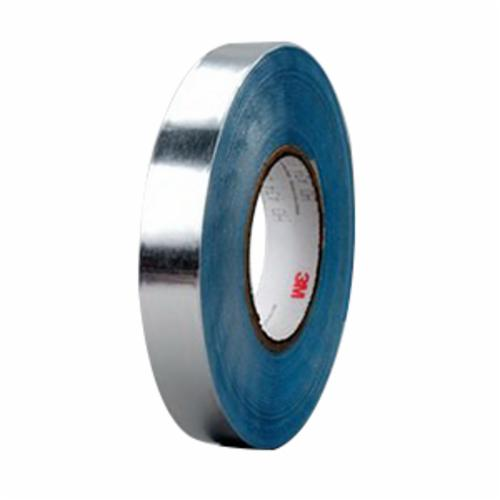 Venture Tape™ 750351-15813 Foil Tape, 60 yd L x 2-1/2 in W, 4 mil THK, Acrylic Adhesive, Aluminum Foil Backing, Natural Aluminum