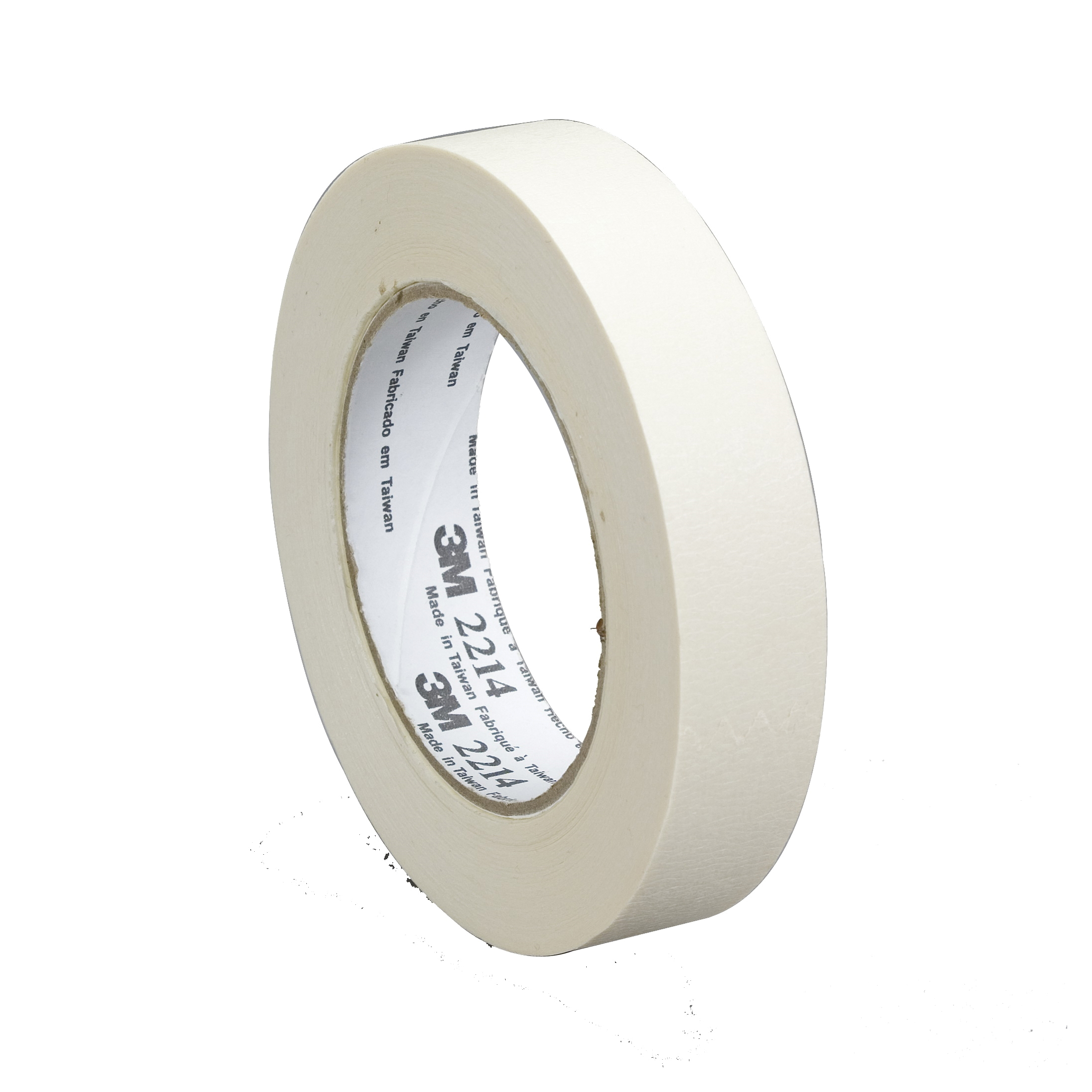 Scotch® 021200-06336 233 High Performance Masking Tape, 55 m L x 24 mm W, 8 mil THK, Paper, Rubber Adhesive, Crepe Paper Backing