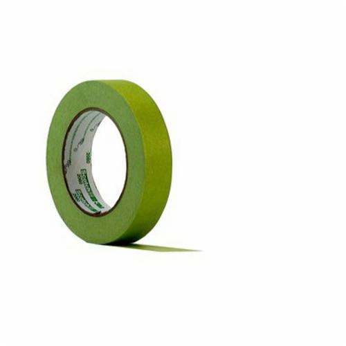 3M™ 021200-71116 2307 General Purpose Masking Tape, 55 m L x 12 mm W, 5.2 mil THK, Rubber Adhesive, Crepe Paper Backing