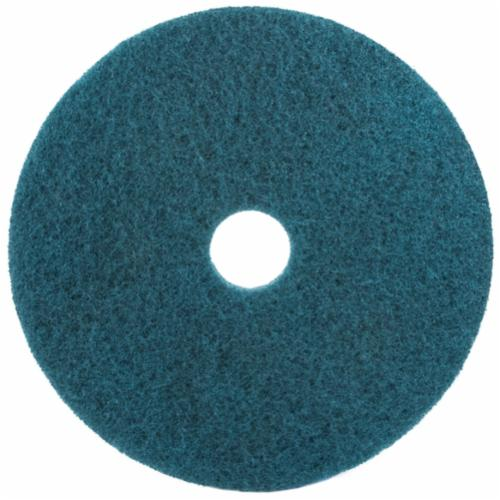 3M™ 048011-08387 Round Non-Woven Buffer Pad, 12 in, 175 to 600 rpm Speed, Polyester Fiber, Red