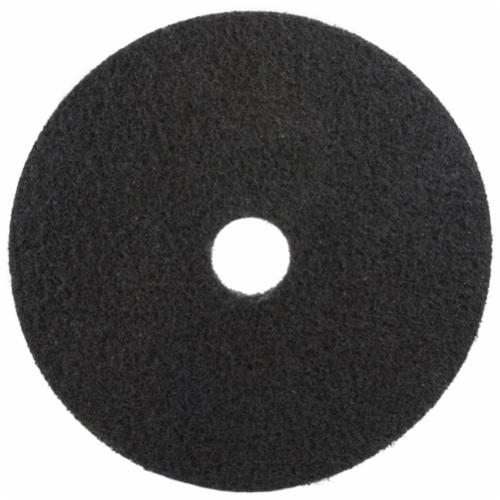 3M™ 048011-08278 High Productivity Round Non-Woven Stripping Pad, 20 in, 175 to 600 rpm Speed, Nylon, Black