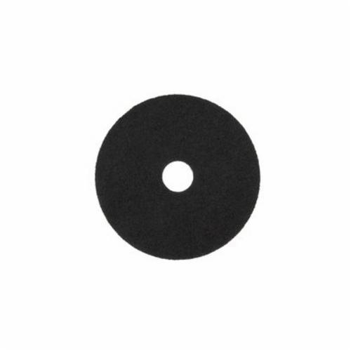 3M™ 048011-08272 High Productivity Round Non-Woven Stripping Pad, 14 in, 175 to 600 rpm Speed, Nylon, Black