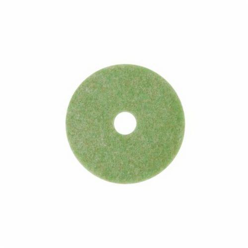 3M™ 048011-18046 Preburnishing Autoscrubber Pad, 14 in L x 1 in THK, Non-Woven Polyester Fiber, Green/Amber
