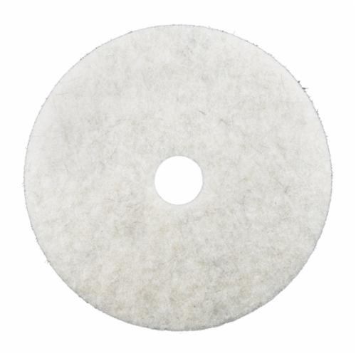 3M™ 048011-08484 Round Polishing Pad, 20 in OAD, 1 in THK, 3-3/8 in Center Hole, Non-Woven Polyester Fiber Pad