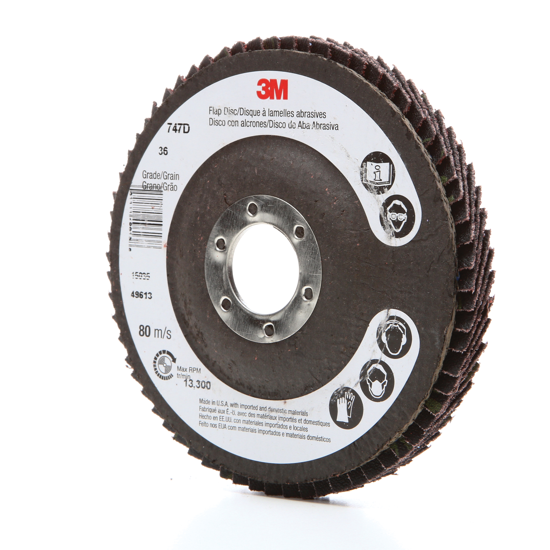 Trizact™ Hookit™ 048011-33849 337DC Medium Pressure Coated Abrasive Disc, 5 in Dia Disc, A300 Grit, Fine Grade, Aluminum Oxide Abrasive, Cloth Backing