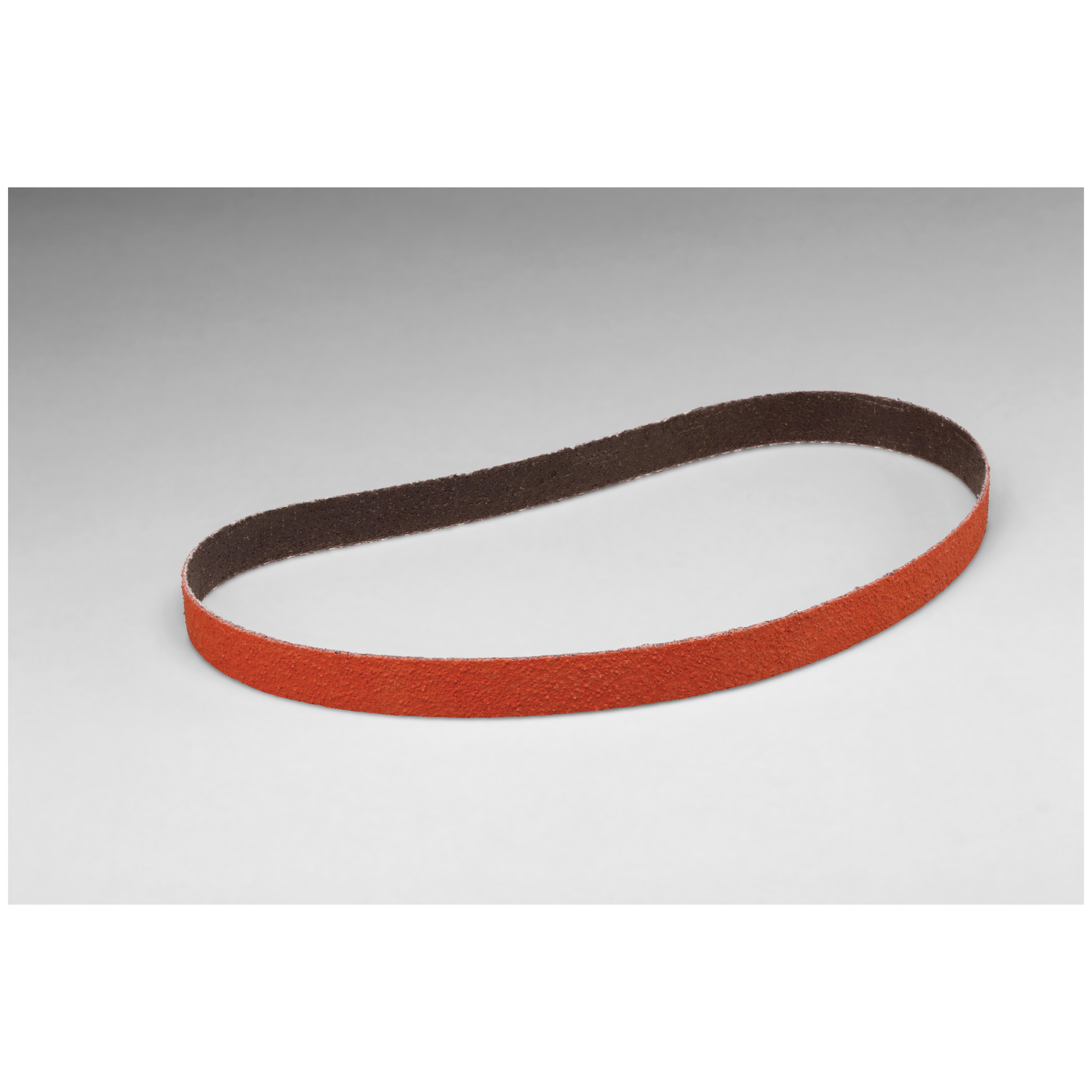 Cubitron™ 051111-68619 977F Narrow Abrasive Belt, 4 in W x 132 in L, 80 Grit, Ceramic Abrasive, Polyester Backing