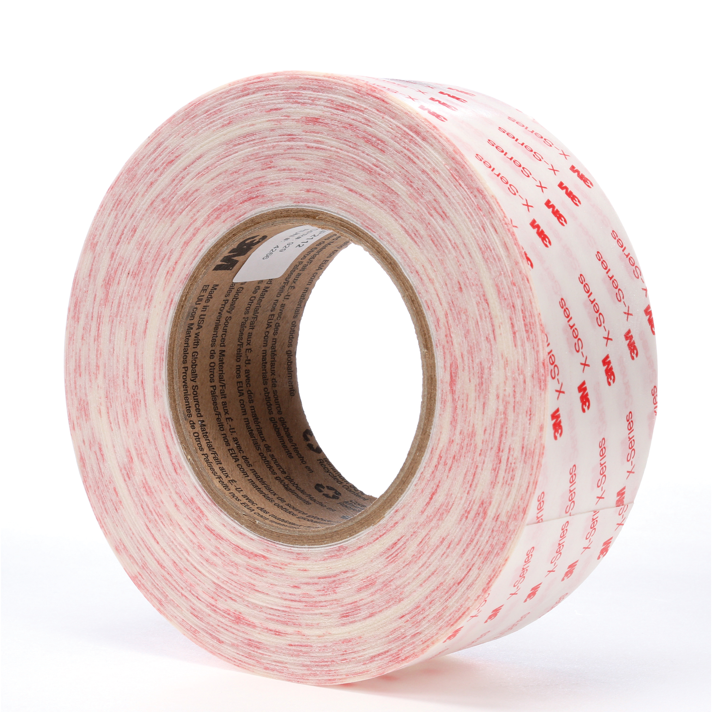 3M™ 051115-63840 X Series High Performance Adhesive Transfer Tape, 60 yd L x 1 in W, 5 mil THK, Acrylic Adhesive, Clear