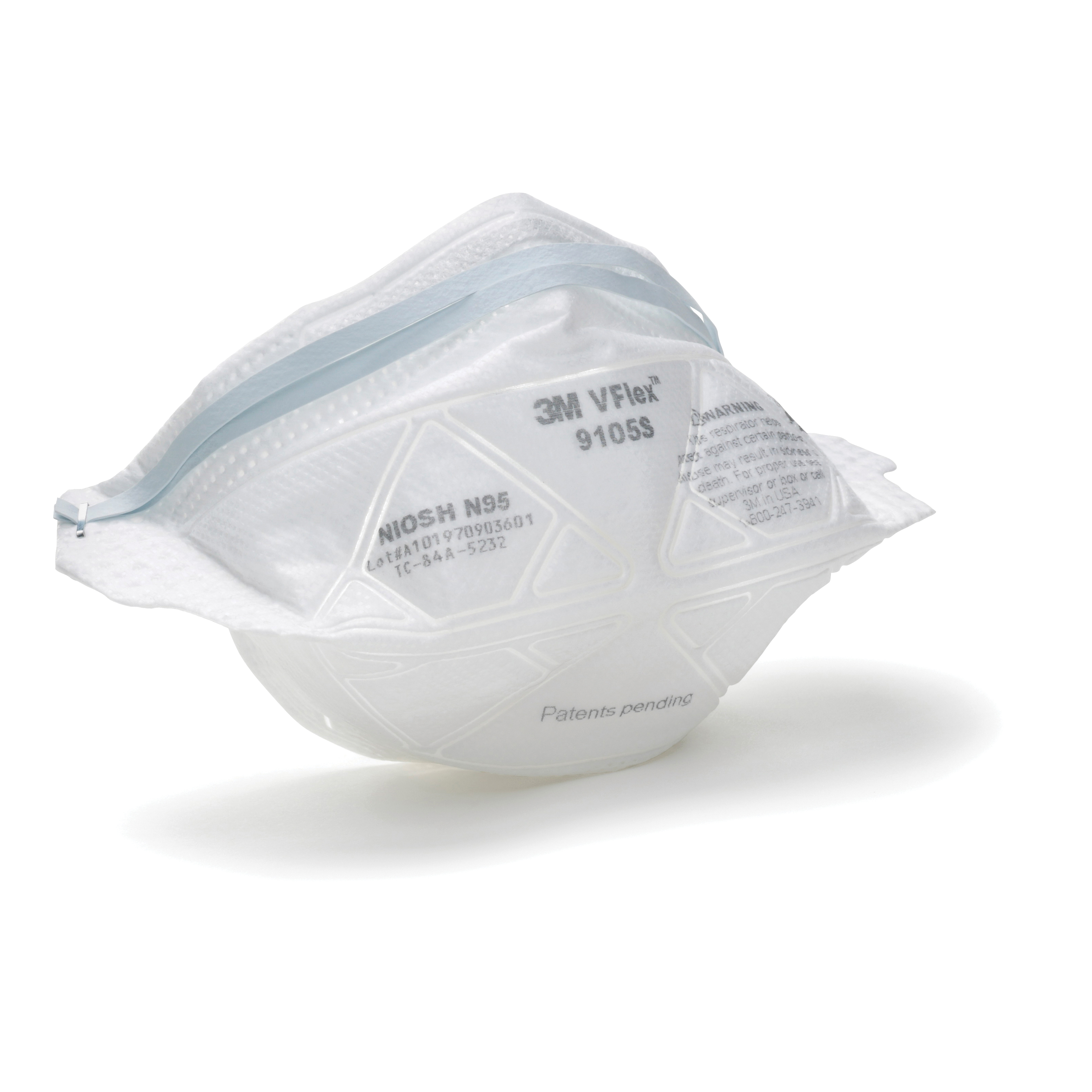 3M™ 8515 Cup Style Disposable Valved Particulate Welding Respirator, Standard, Resists: Non-Oil Based Particles