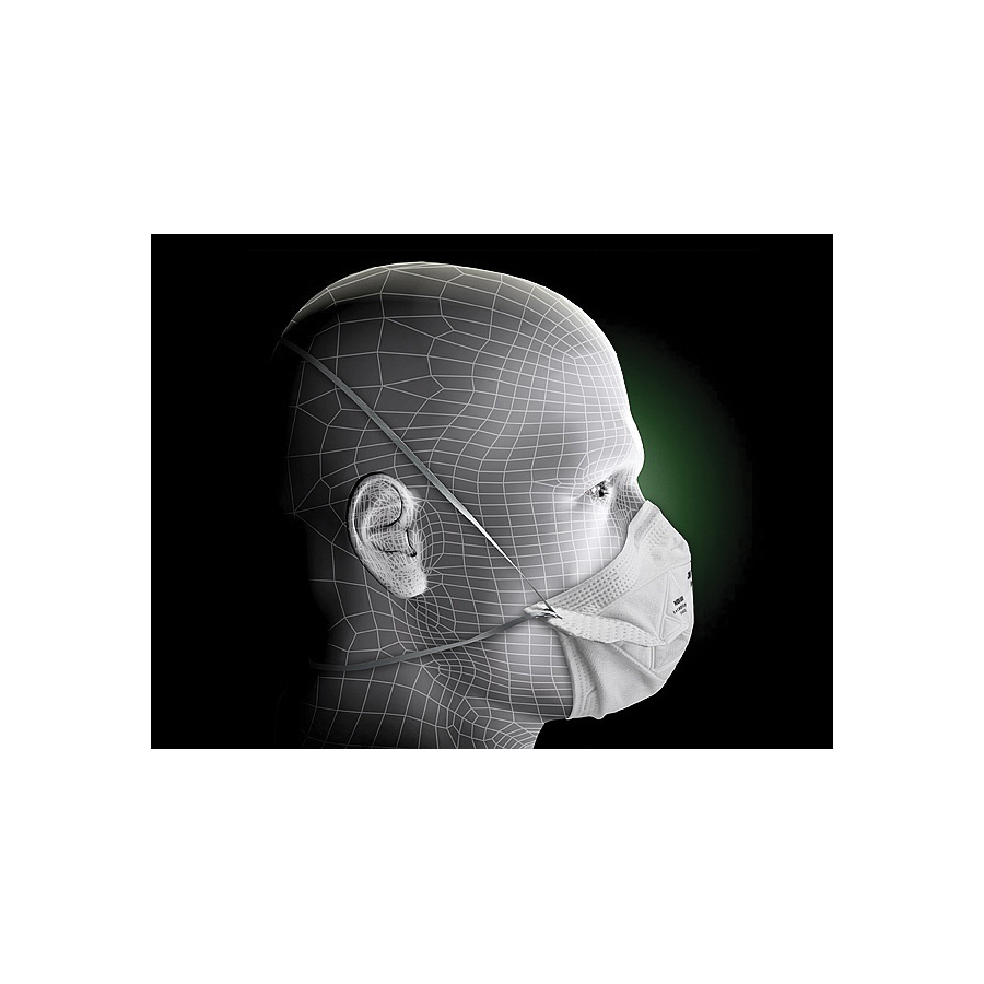 3M™ VFlex™ 051131-17394 9105S Disposable Flat Fold Particulate Respirator, S, Resists: Certain Non-Oil Based Particles, Airborne Contaminants, Dust and other Particles