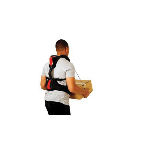3M™ StrongArm® 051131-27523 ErgoSkeleton™ V22, M, 34 to 41 in Fits Waist, Rugged Plastic, Black/Red