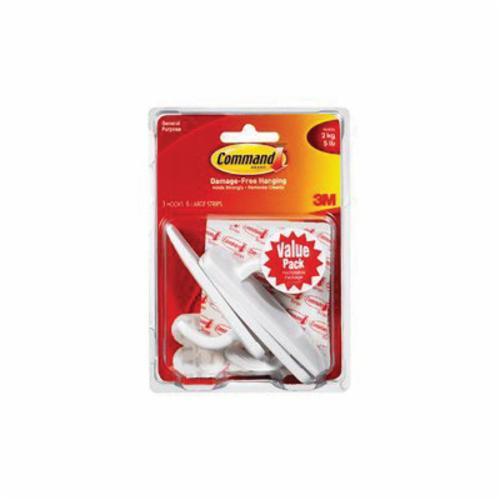 Command™ 051131-94937 Utility Hook, M, 3 lb Capacity, Plastic, White