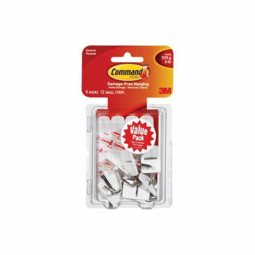 Command™ 051131-94941 Utility Hook, L, 5 lb Capacity, Plastic, White