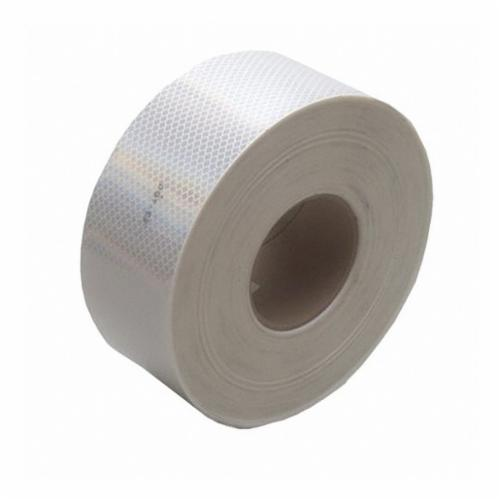 Diamond Grade™ 051138-67535 Conspicuity Marking Tape, 150 ft L x 2 in W x 0.014 to 0.018 in THK, Red/White