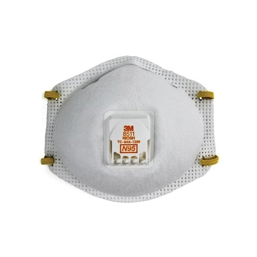 3M™ 051138-54336 8293 Cup Style Disposable Lightweight Particulate Respirator, Standard, Resists: MDA, Arsenic, Cadmium, Certain Non-Oil Based Particles, Dust and other Particles