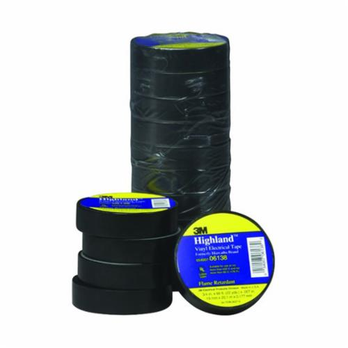 Scotch® 054007-04836 Premium Grade Electrical Tape, 60 ft L x 3/4 in W, 8 mil THK, Cambric Fabric, Rubber Adhesive, Cotton Cloth Backing, Yellow