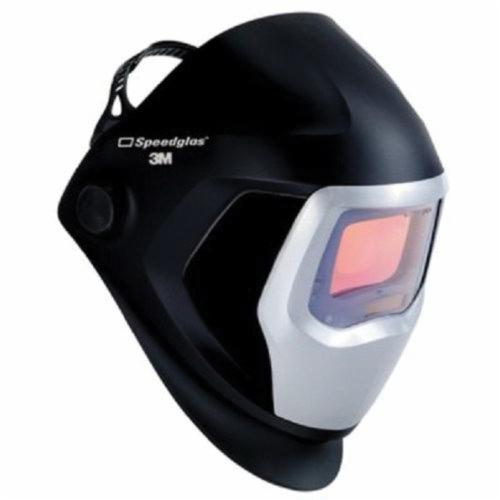 Speedglas™ 051135-89353 9100 Welding Helmet With Auto Darkening Filter, 5, 8 to 13 Lens Shade, Black/Silver, 1.8 x 3.7 in Viewing Area, Nylon, Specifications Met: ANSI Z87.1-2010