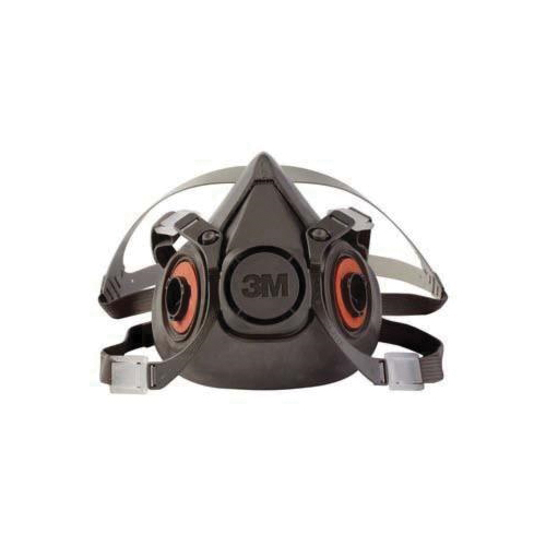 3M™ 051131-07024 6100 Dual Cartridge Reusable Half Facepiece Respirator, S, 4-Point Yolk and Cradle Suspension, Bayonet Connection, Resists: Particulates, Gases and Vapors