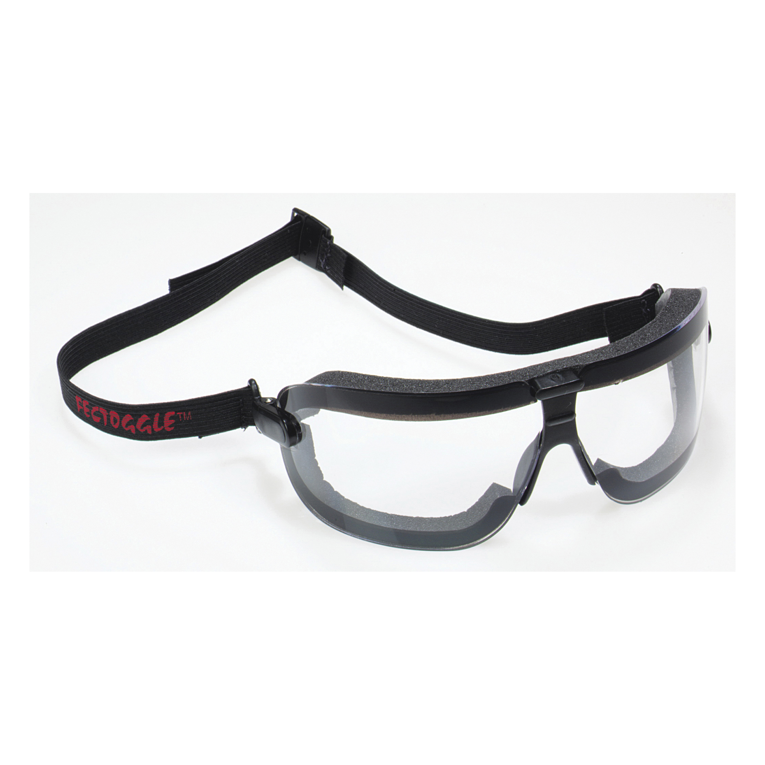 3M™ Maxim™ 2x2 078371-62169 40696-00000-10 Premium Side Venting Safety Goggles With Black Frame and Elastic Strap, Anti-Fog Clear Polycarbonate Lens, 99.9% % UV Protection, Elastic Strap, ANSI Z87.1-2015