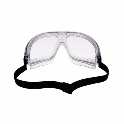 3M™ GoggleGear™ 078371-62330 16617-00000-10 Direct Vent Lightweight Value Safety Goggles, Anti-Fog/Impact Resistant/UV-Protective Clear Polycarbonate Lens, 99.9% % UV Protection, Elastic Strap, ANSI Z87.1-2003, CSA Z94.3-2007