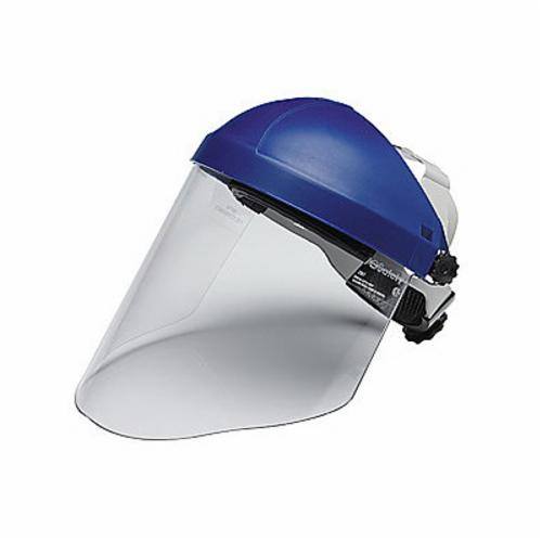 3M™ AoSafety® 078371-82582 Wide Faceshield Visor, Clear, Polycarbonate, 9 in H x 18-1/4 in W x 0.04 in THK Visor, For Use With AOTuffmaster® Headgears, Specifications Met: ANSI Z87.1-2003