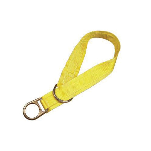 3M DBI-SALA Fall Protection 1002004 Pass-Thru Web Tie-Off Adaptor, 4 ft L x 1-3/4 in W, Polyester/Steel, Yellow