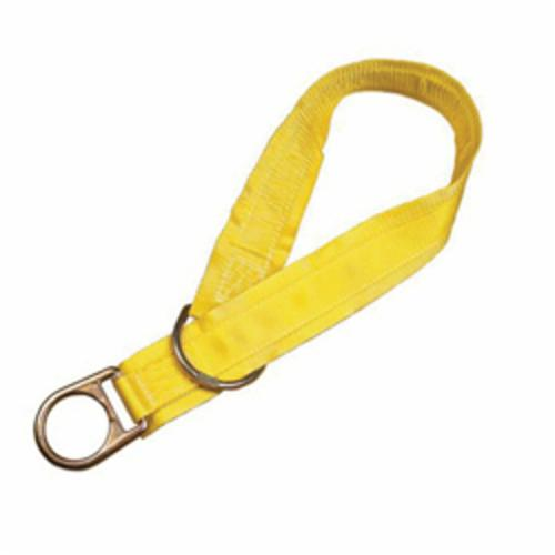 3M DBI-SALA Fall Protection 1002008 Pass-Thru Web Tie-Off Adaptor, 8 ft L x 1-3/4 in W, Polyester/Steel, Yellow