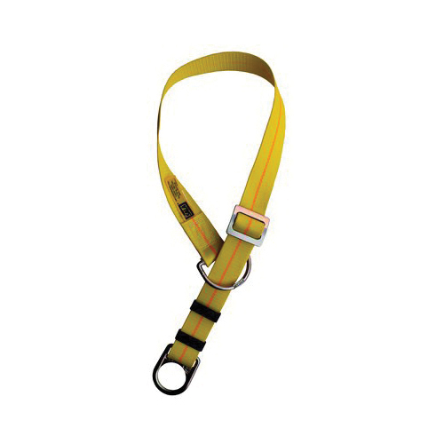 3M DBI-SALA Fall Protection 1002010 Adjustable Pass-Thru/Choker Web Tie-Off Adaptor, 10 ft L x 3 in W x 1-3/4 in H, Polyester/Steel, Yellow