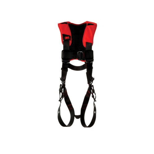 3M Protecta Fall Protection 1161311 Positioning Harness, 2XL, 420 lb Load, Polyester Strap, Tongue Leg Strap Buckle, Pass-Thru Chest Strap Buckle, Steel Hardware, Black