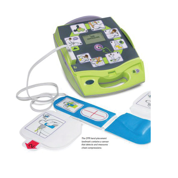 AED® 8000-004004-01 Defibrillator, Semi-Automatic Operation, Adult (120J/150J/200J)/Pediatric (50J/70J/85J), 10 s Charging, 33-1/2 in L Cable
