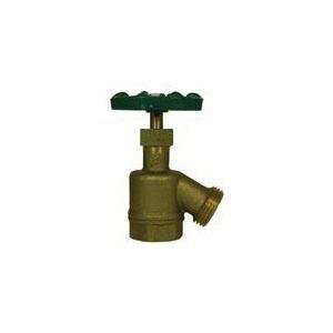 A.Y. McDonald 5420-211 Garden Hose Bibb, 3/4 in Nominal, FNPT x Garden Hose Thread End Style, Brass Body, Handwheel Actuator