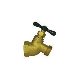 A.Y. McDonald 5420-287 72006 No-Kink Hose Bibb, 3/4 in Nominal, FNPT x Garden Hose Thread End Style, Brass Body, T-Handle Actuator