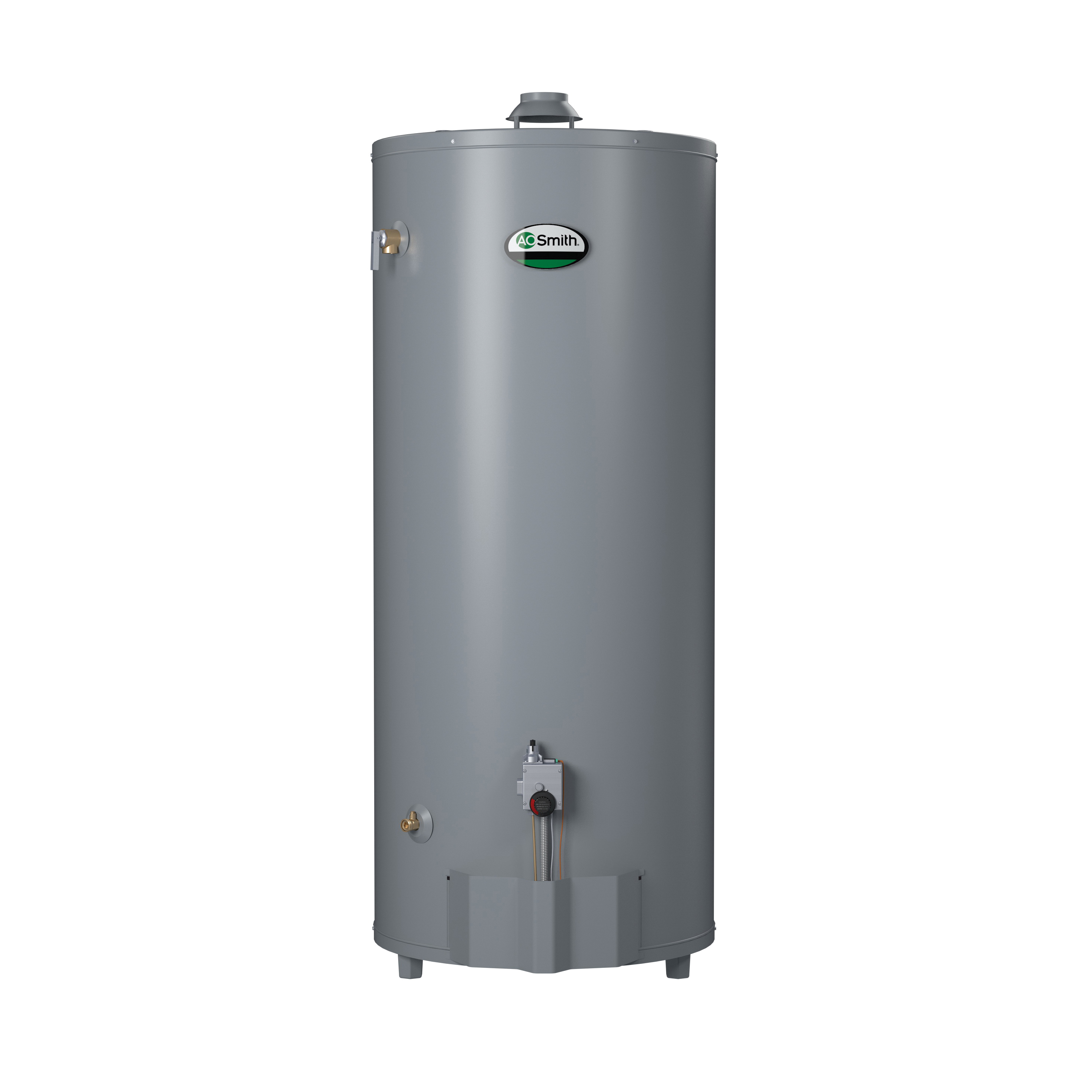 AO Smith® ProLine® 100113810 GCN-75 High Recovery Gas Water Heater, 75100 Btu/hr Heating, 74 gal Tank, Natural Gas Fuel, Atmospheric Vent, Short