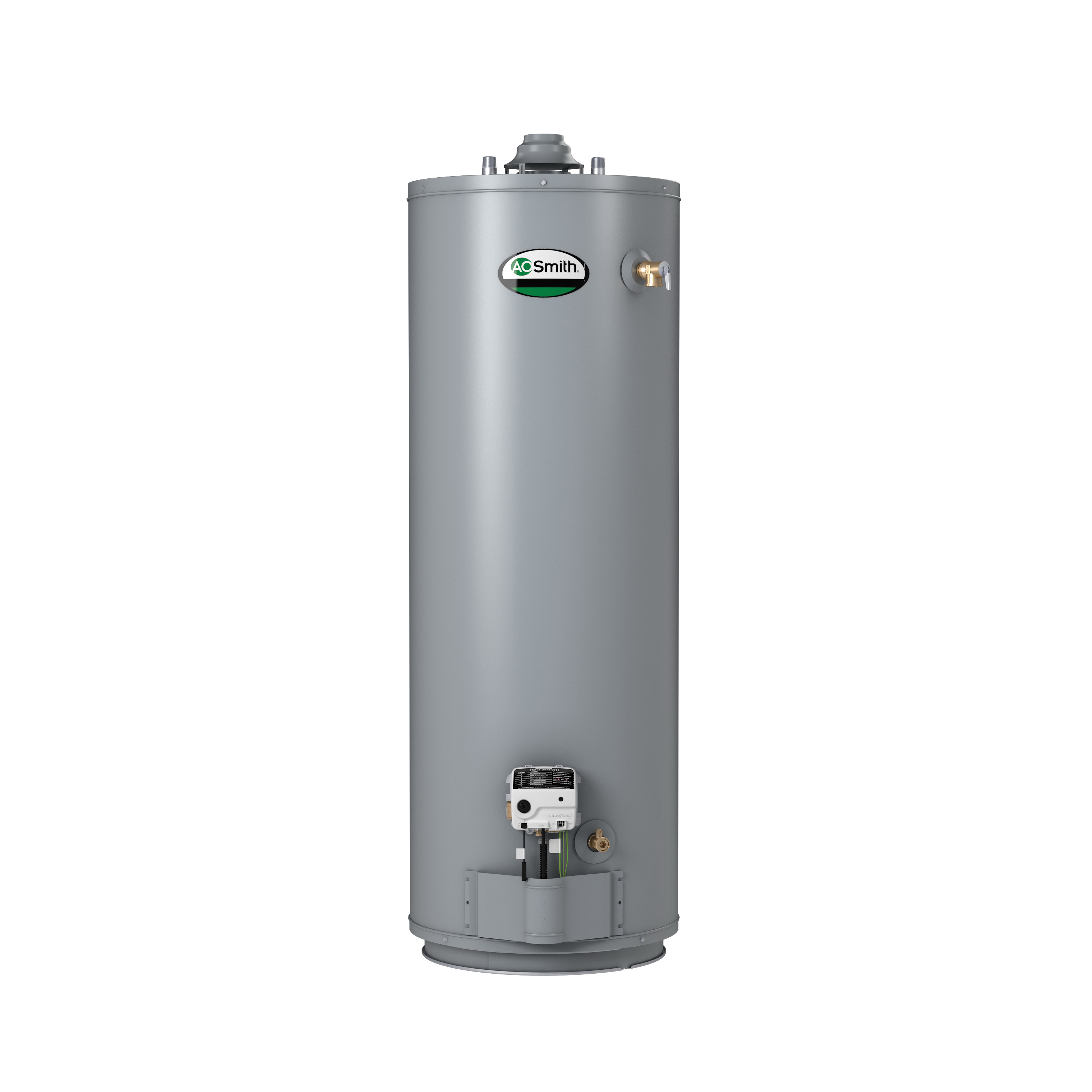 AO Smith® ProLine® 100210346 GUC-40 Gas Water Heater, 40000 Btu/hr Heating, 40 gal Tank, Natural Gas Fuel, Atmospheric Vent, 41 gph at 90 deg F Recovery, Tall