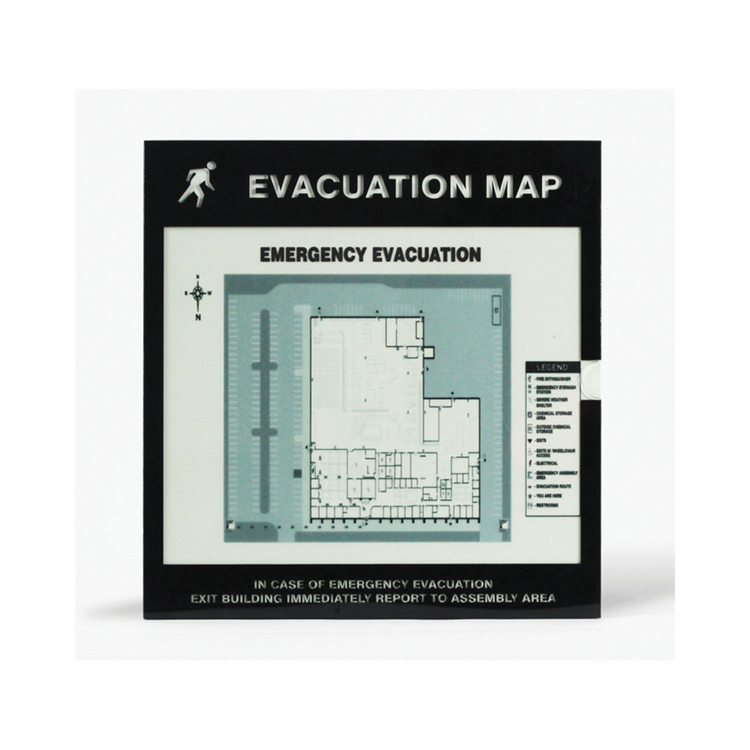 Accuform® DTA213 Evacuation Map Holder Insert, For Use With Inkjet and Laser Printer