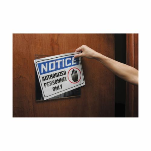 Accuform® CST720 Confined Space Stencil, DANGER PERMIT REQUIRED CONFINED SPACE DO NOT ENTER, 2 in H Header/1 in H Letters H, Mylar®