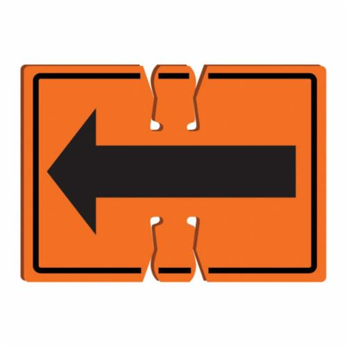Accuform® FBC737 Traffic Cone Top Warning Sign, Text, 0.06 in Plastic, 10 in H x 14 in W