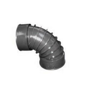ADS® 0490AA Single Wall Snap Elbow, 4 in, 90 deg, Barb x Female Connection, HDPE, Domestic