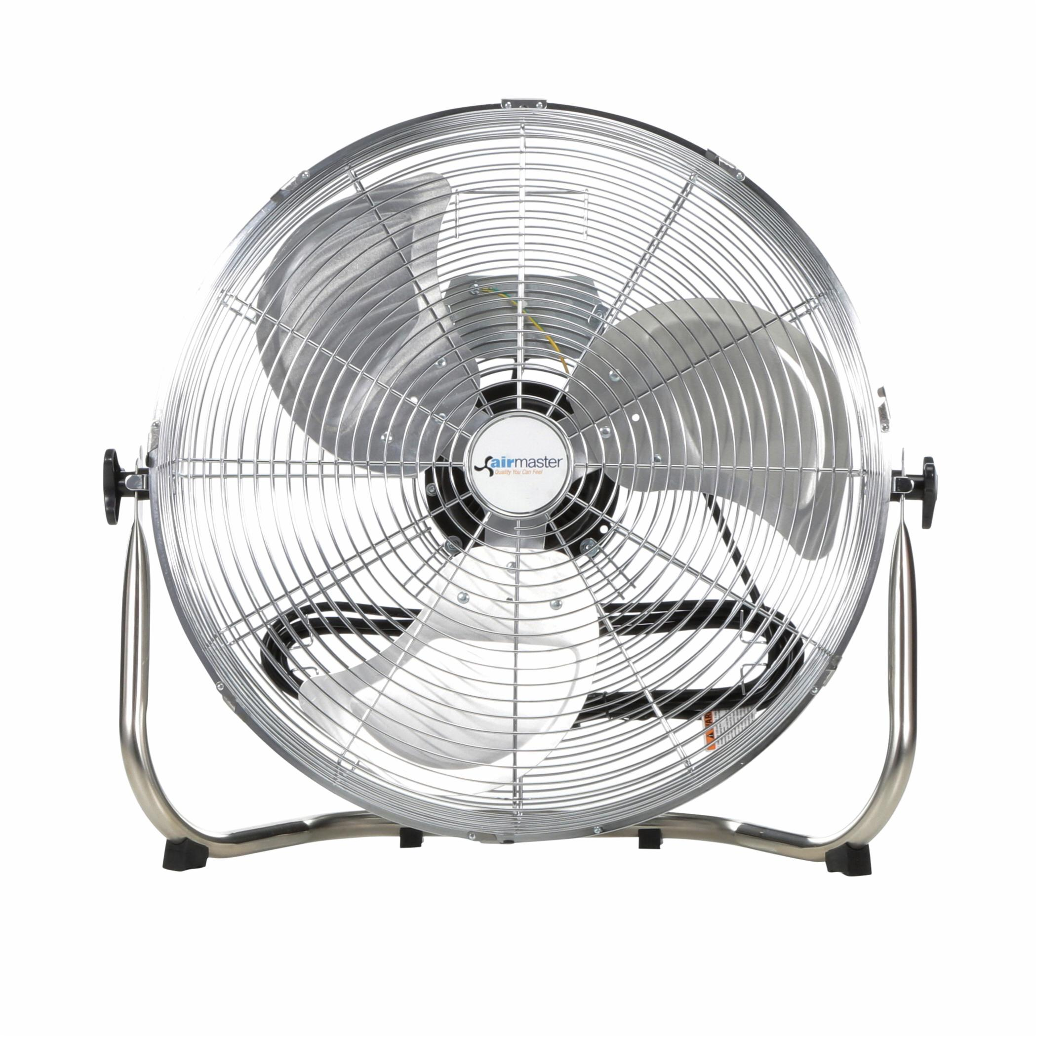 Airmaster® 78972 1-Phase Commercial Industrial Non-Oscillating Air Circulator, 18 in Blade, 2966/2437/2013 cfm Flow Rate, 115 VAC, 1.65 A