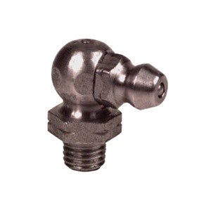 Alemite® 1728-B Drive-In Straight Grease Fitting, 33/64 in OAL, 1/4 in L Shank, Steel, Trivalent Zinc Plated