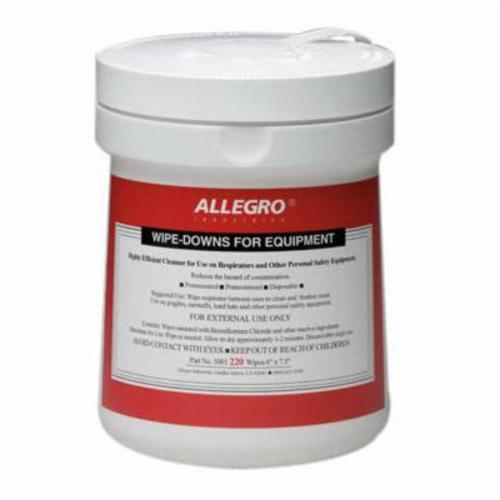 Allegro® 0350 Eyewear Cleaning Wipe, 5 x 8 in Tissue, 100 Tissue, Non-Woven Cloth, For Use With Glass or Polycarbonate Lenses