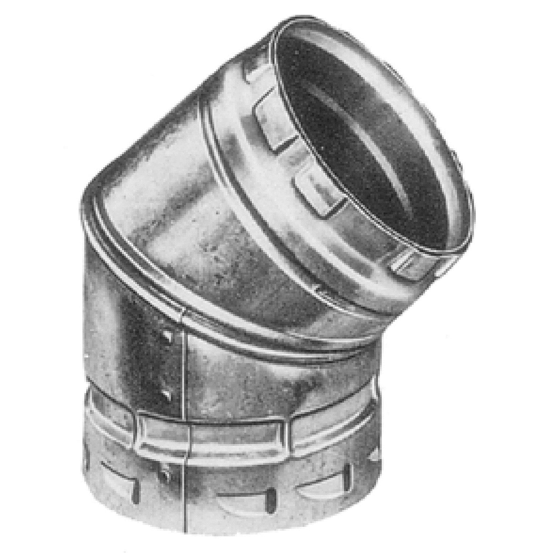 AmeriVent® 5E45 Adjustable Elbow, 5 in, 45 deg, Import