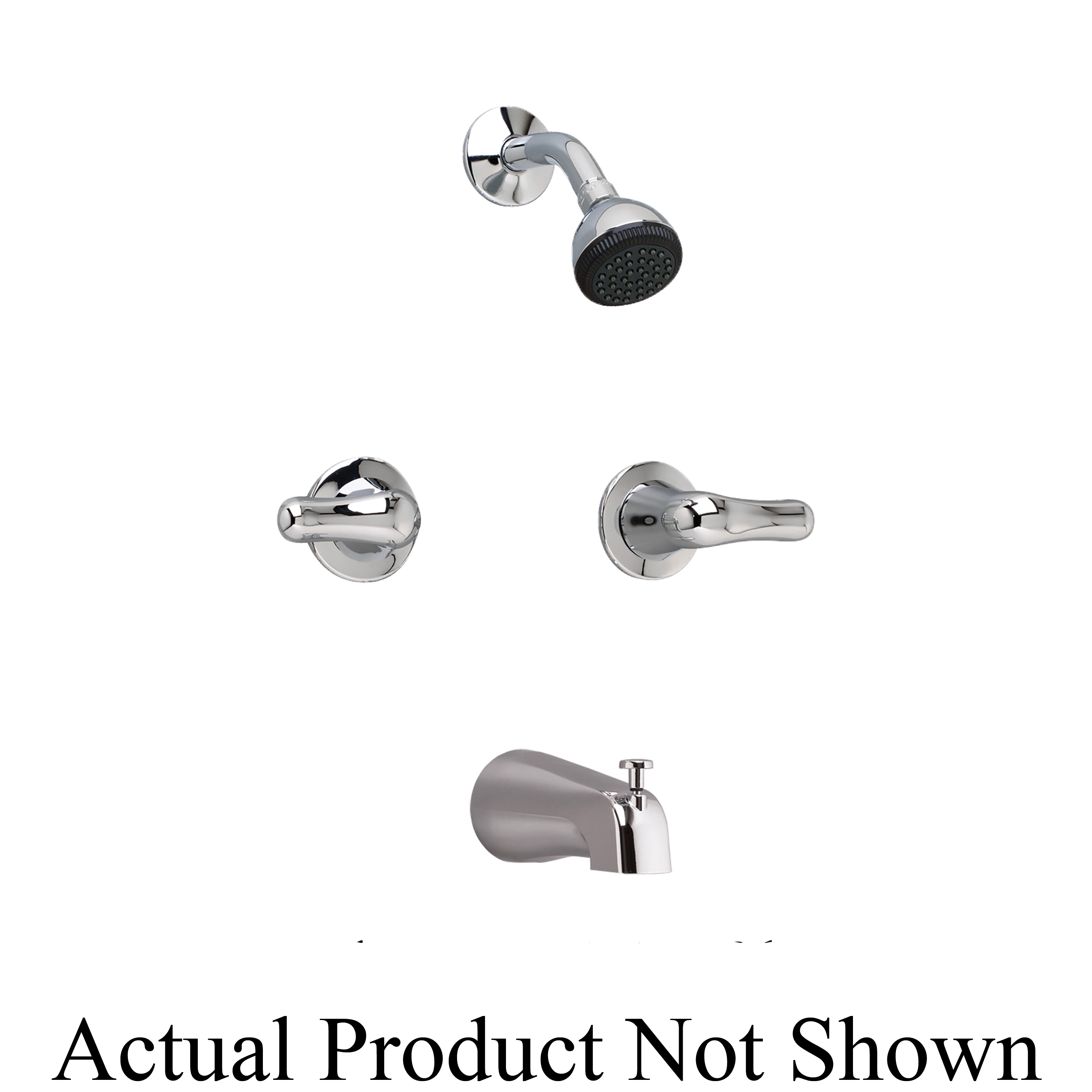 American Standard 3275.505.002 Colony® Soft Tub Filler, 17 gpm Flow Rate, 8 in Center, Polished Chrome, 2 Handles, Domestic