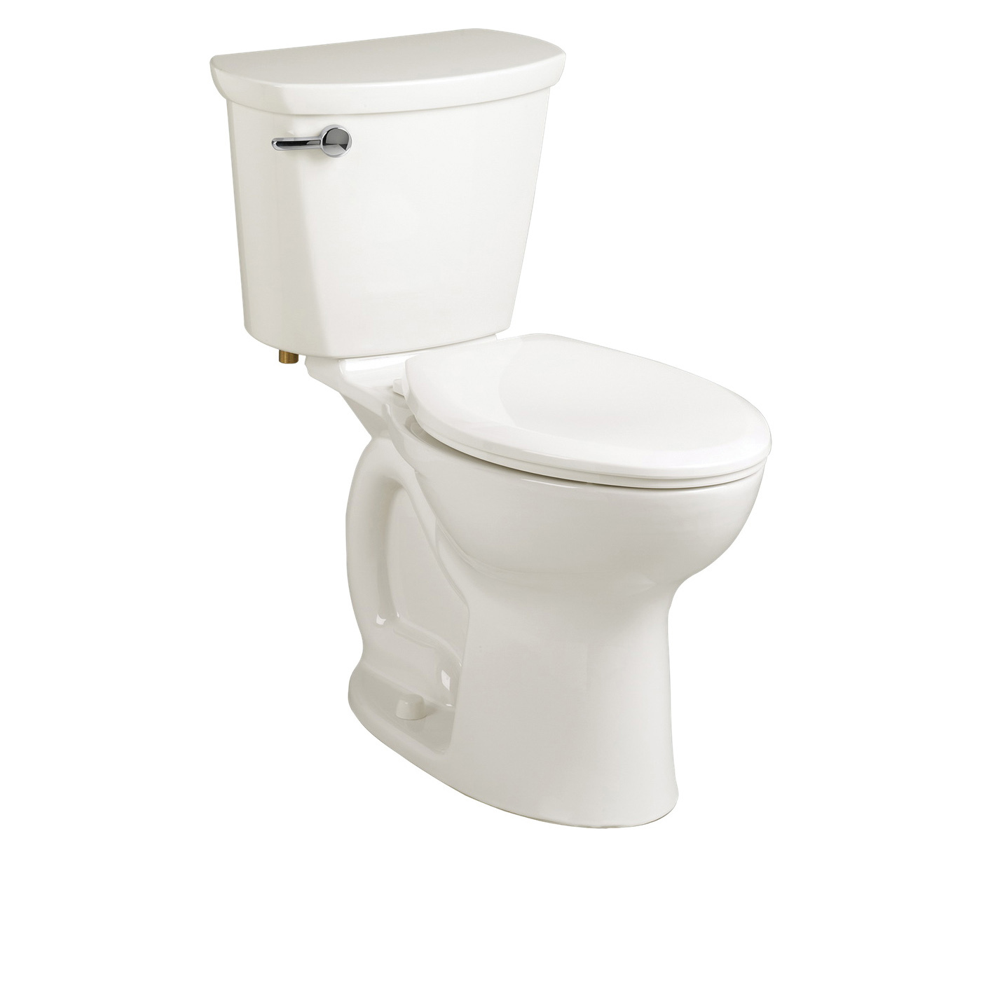 American Standard 215AA104.020 Cadet® Pro™ Right Height™ 2-Piece Toilet, Elongated Bowl, 16-1/2 in H Rim, 12 in Rough-In, 1.28 gpf Flush Rate, White, Import