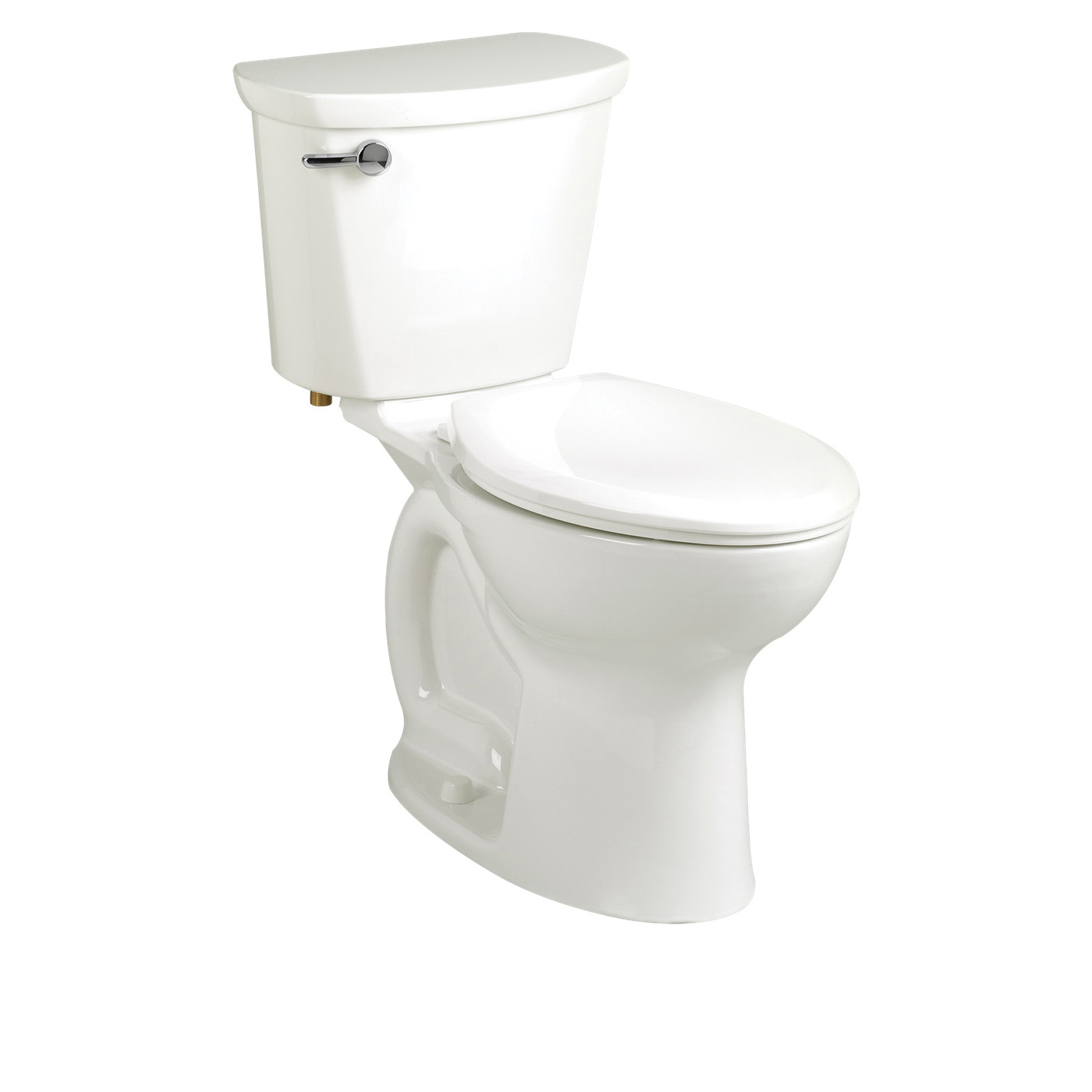 American Standard 215BA104.020 Cadet® Pro™ Right Height™ 2-Piece Toilet, Round Front Bowl, 16-1/2 in H Rim, 12 in Rough-In, 1.28 gpf Flush Rate, White, Import
