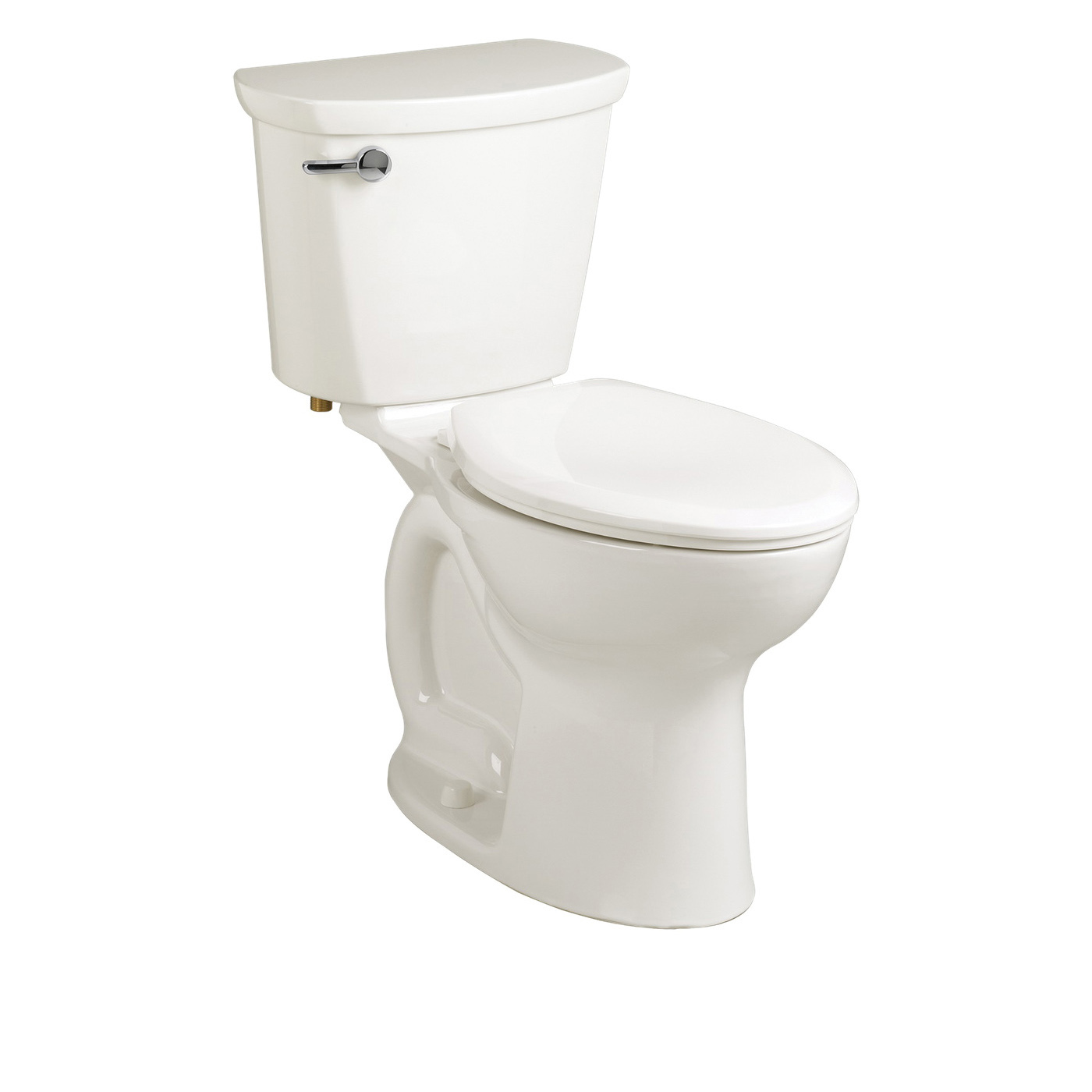 American Standard 215AB104.020 Cadet® Pro™ Right Height™ 2-Piece Toilet, Elongated Bowl, 16-1/2 in H Rim, 10 in Rough-In, 1.28 gpf Flush Rate, White, Import