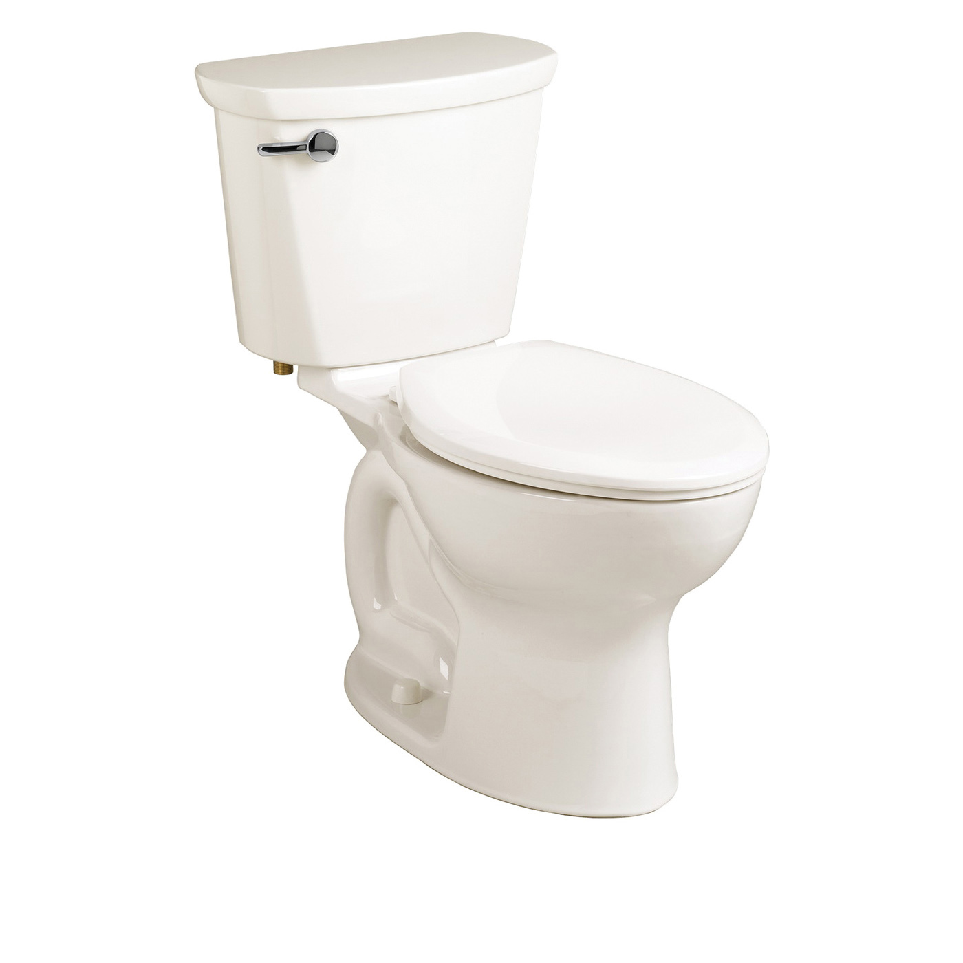 American Standard 215CA104.020 Cadet® Pro™ 2-Piece Toilet, Elongated Bowl, 15 in H Rim, 12 in Rough-In, 1.28 gpf Flush Rate, White, Import