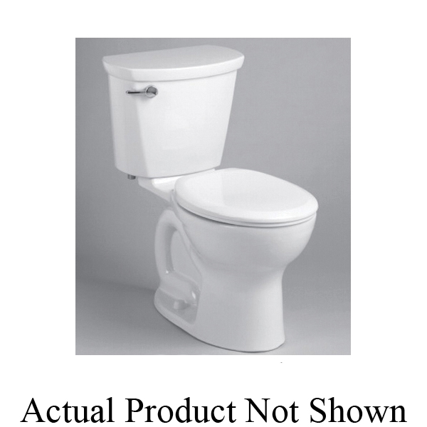 American Standard 215DA104.020 Cadet® Pro™ 2-Piece Toilet, Round Front Bowl, 15 in H Rim, 12 in Rough-In, 1.28 gpf Flush Rate, White, Import